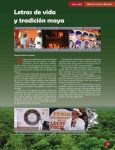 FOTO 37 REVISTA YUCATAN. CRONICA DE PRESENTACION DE LIBRO EN LA SELVA Y EN LOS PUEBLOS DEL MAYAB POR RAFAEL CHAY ARZÁPALO. FILEY 8 DE MARZO 2015 RY_Abril-15_ChayArzapalo